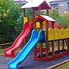 Children's combined structures, slides, playhouses