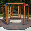 Children's climbing frames, sandpits, games with balls